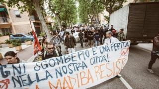 Corteo Sgombero Via Dario Campana