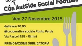 Cena AutSide Social Football 27 Novembre