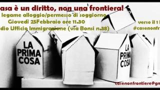 Giovedì 25 Febbraio ore 11.00 - Ufficio Immigrazione, Questura di Rimini, Via Bonsi, 38 - La casa è un diritto, non una frontiera!