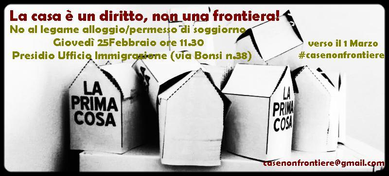 CaseNonFrontiere - Presidio all\'Ufficio Immigrazione