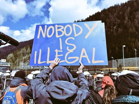 No Borders - No Frontiere - Nobody is illegal