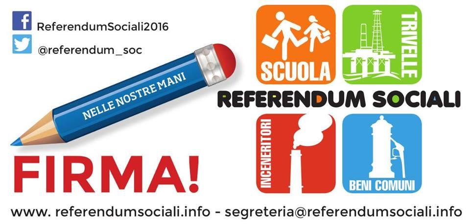 Referendum Sociali 2016