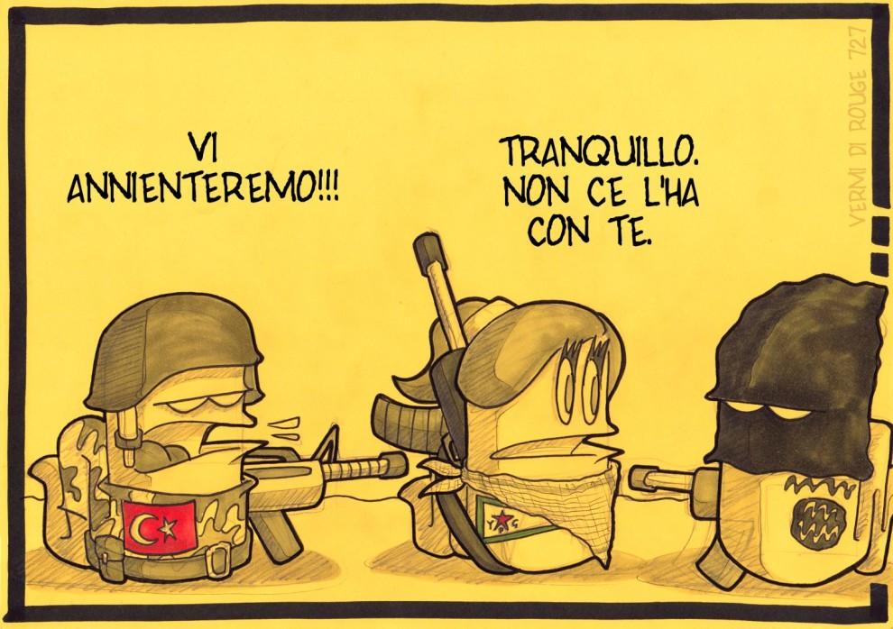Rouge per il Rojava