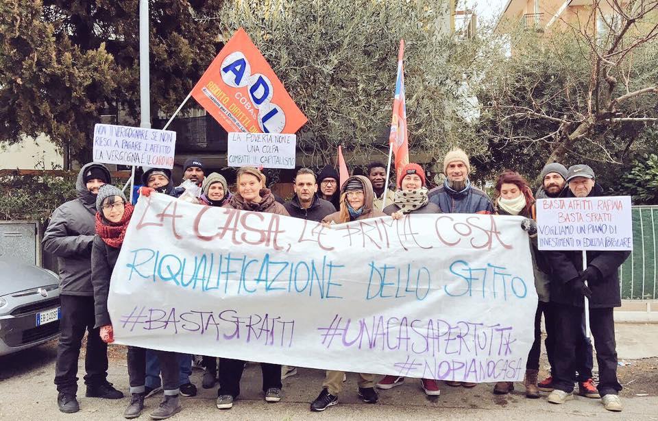 blocco sfratto Paolo 20.01.2017