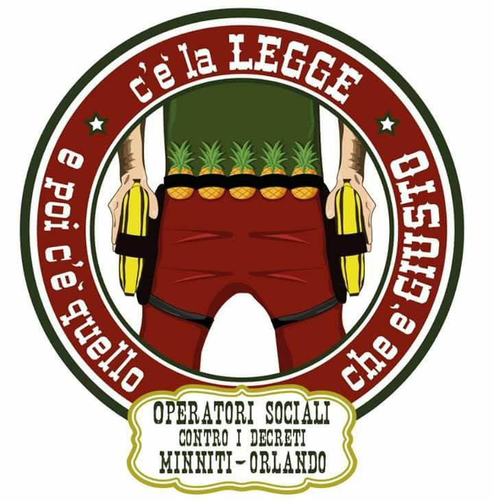 logo operatori contro Minniti