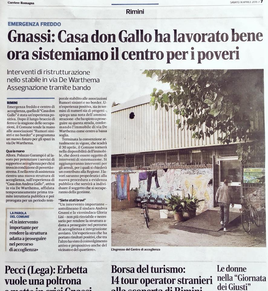 corriere romagna gnassi casa Gallo